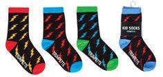 They're Electric!! Boys Kids Lighting Bolt #socks by #trumpette #shopweaver www.weaverdistribution.ca