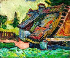 'Zerfallenes Haus',  Max Pechstein