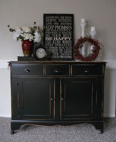 Etonnant I Love A Simple Makeover And Black Looks Good On Almost Anything. Nuff  Said. Black Buffet TableKitchen ...