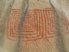 Pintura rupestre da Localidade Espinhos, em Piripiri (PI).
