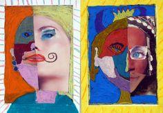 Il continua-faccia (collage e pastelli a olio)