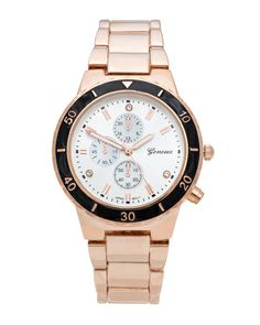 Noir Trim Watch by JewelMint.com, $39.99