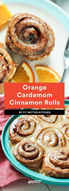7. Orange Cardamom Cinnamon Rolls #greatist https://greatist.com/eat/healthy-cinnamon-roll-recipes