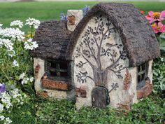 Robin's Way Door opens Miniature Fairy Hobbit Garden Mini Fairy Garden, Fairy Garden Houses, Garden Art, Garden Homes, Fairy Gardening, Fairies Garden, Garden Ideas, Fairy Crafts, Gnome House