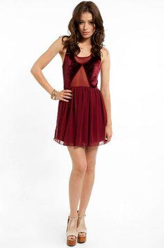 Baby Velvet Dress in Maroon
