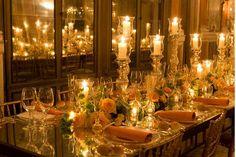 Table setting at Il Ballo del Doge in Venice Italy