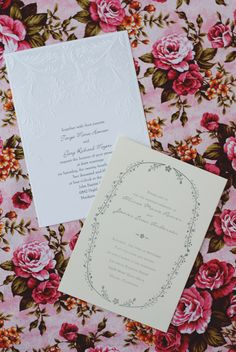 Wending Invitations: Vintage wedding invitations from Invitations by Dawn