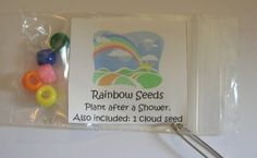 "Rainbow seeds... complete with a cotton ball ""cloud seed"" too!"