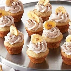 Mocha-Filled Banana Cupcakes These cupcakes provide a double dose of banana flavor, both in the cake and frosting.