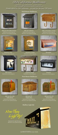 Old California Mailboxes