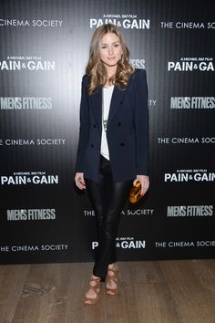 """Olivia Palermo Photos Photos - Olivia Palermo attends the Cinema Society screening of """"Pain And Gain"""" at Crosby Street Hotel on April 15, 2013 in New York City. - 'Pain and Gain' Screening in NYC"""
