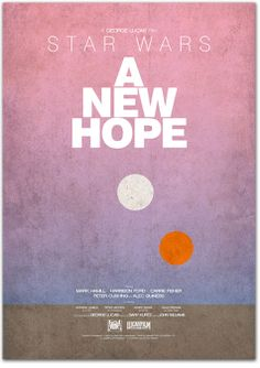 Minimal Movie Posters - STAR WARS: EPISODE IV - A NEW HOPE