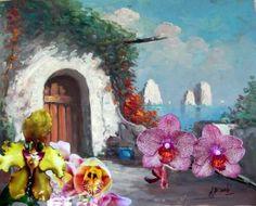 """Saatchi Art Artist Carlo Maniero; Painting, """"costa amalfitana"""" #art"""