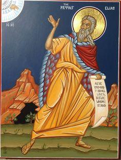 Prophet Elias by Fr. Religious Icons, Religious Art, Church Icon, Religious Paintings, Byzantine Icons, Old Testament, Orthodox Icons, Christian Art, Saints