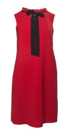 8b006415c7 Kobieca sukienka wiązana pod szyją. Czerwona sukienka.