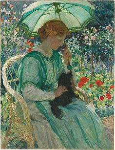 The Green Parasol,  E.Phillips Fox  (Nat. Gallery of Australia)   1912