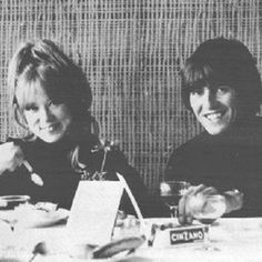 """truthaboutthebeatlesgirls: """" March 1965 - Pattie and George dining in Austria. From the 1976 book, Growing Up With the Beatles, by Ron Schaumburg. Free Music Video, Music Video Song, Music Videos, Beatles Band, The Beatles, George Beatles, George Harrison Pattie Boyd, Patti Harrison, Romantic Dinner For Two"""