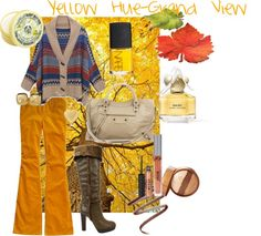 """Yellow Hue-Grand View"" by rhinestonesandrouge on Polyvore"