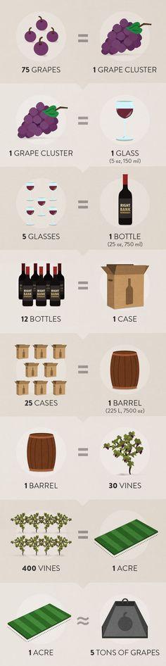 Wine math #infographic {wineglasswriter.com}