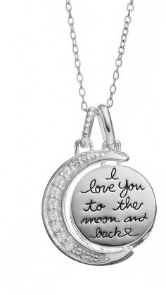Sterling silver two charm i love you to the moon and back pendant sterling silver two charm i love you to the moon and back pendant necklace 18 amazon collection 2163 httpamazon pinterest moon mozeypictures Images