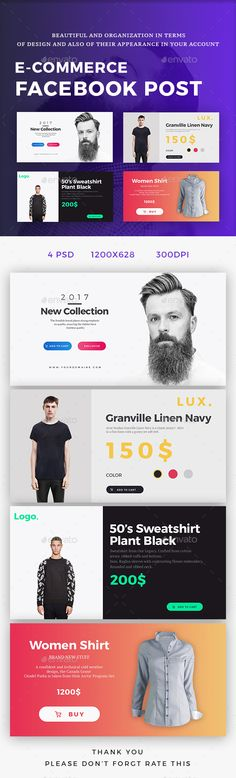 ECommerce Facebook Post — Photoshop PSD #creative #promo • Download ➝ https://graphicriver.net/item/ecommerce-facebook-post/19590630?ref=pxcr