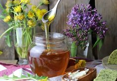 Sieht aus und schmeckt wie Bienenhonig Clean Eating, Healthy Eating, Recipe Images, Chocolate Fondue, Preserves, Alcoholic Drinks, Panna Cotta, Food And Drink, Health Fitness
