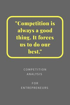 Understand your competition with this easy to use Competition Analysis. Competitive Analysis, Understanding Yourself, Competition, Entrepreneur, Infographic, Articles, Good Things, Templates, Marketing