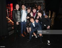 Actors Finn Wolfhard, Jaeden Lieberher, Sophia Lillis, Jack Dylan Grazer, Jeremy Ray Taylor, Wyatt Oleff, and Chosen Jacobs attend the 2017 MTV Movie And TV Awards at The Shrine Auditorium on May 7, 2017 in Los Angeles, California.