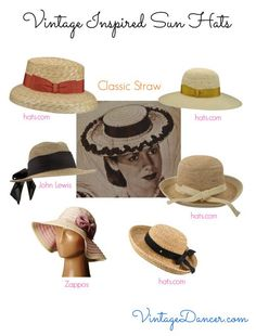 53b6e035 Vintage inspired straw hats are the classic choice for summer fashions.  Shop VintageDancer.com