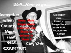 A Ruthie Steele song sung by CLAY KIRK