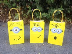 12- Minions Theme Party Favor Bags - 12 Despicable MeFavor Bags on Etsy, $20.00