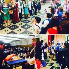 Another huge event on the final day of #LibCon was our #CosplayChess tournament.  #Cosplayers signed up to be human chess pieces while two players charted the course of their moves.  When your piece was defeated, the two battled it out in front of the audience. #AbilenePublicLibrary #Gaming #HumanGamers #CosplayGame #Costumes #Tournament #Fun #GoodSport #Fun #Activity #Teens #YoungAdults #Kids #Youth #Interactive #Laughing #Program