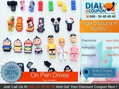 Get A Range Of Pen Drives That Are Both Stylish And Efficient In Use. Call Dial A Coupon Now And Get You Discount Coupon On Pen Drives.  For More Discount Deals Please Visit: www.DialACoupon.com