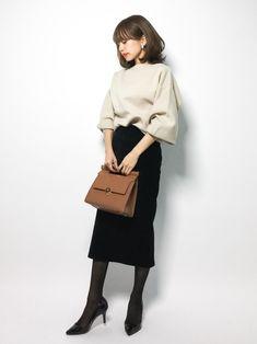 MOUSSYのニット・セーター「CRESCENT SLEEVE B/N KNIT」を使ったeriko(ZOZOTOWN)のコーディネートです。WEARはモデル・俳優・ショップスタッフなどの着こなしをチェックできるファッションコーディネートサイトです。