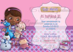 DOC MCSTUFFIN Printable Birthday Invitation by ShuliGoodmanDesigns, $5.00