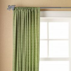 Love these green curtain for either a boys or girls bedroom!