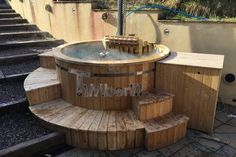 Polypropylene lined Outdoor SPA, Tin Mellerick-Wheeler, Brecon, UK Outdoor Spa, Outdoor Decor, Garden Ideas Uk, Decking, Firewood, Lighter, Tub, Waiting, Alternative