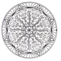 Free Mandalas page «mandala-to-color-flowers-vegetation-to-print (9)». Magnificient natural Mandala drawing