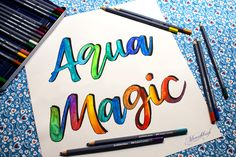 Wasservermalbare Stifte /Aquarellstifte / Wunschbriefe Faber Castell, Workshop, Arabic Calligraphy, Magic, Tools, Colouring Pencils, Too Busy, Graz, To Draw