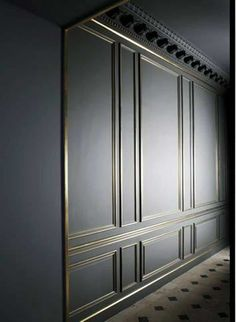 Home Design and Decor , Type Of Wall Panel For The Homes : Black Brass Trim Type Of Wall Panel