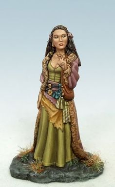 Female Shaman by Larry Elmore -   Sculpted in pewter by Patrick Keith, & Painted by Jessica Rich