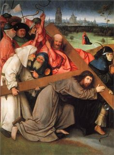 Hieronymus Bosch,Christ Carrying the Cross, c. 1490 - 1516