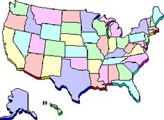 The rundown on each state---places to visit, landmarks, campgrounds, etc.