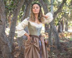 Renaissance Skirt, Renaissance Festival Costumes, Renaissance Clothing, Renaissance Outfits, Custom Corsets, Gathered Skirt, Costume Design, I Dress, High Waisted Skirt