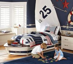I want this bed for Jake.  Wonder how hard it would be to DIY
