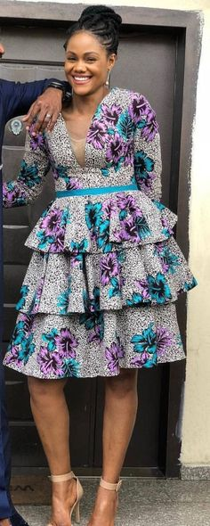 The complete pictures of latest ankara short gown styles of 2018 you've been searching for. These short ankara gown styles of 2018 are beautiful African Print Dresses, African Fashion Dresses, African Dress, African Prints, Ankara Fashion, African Inspired Fashion, African Print Fashion, Fashion Prints, Fashion Collage