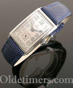 1930s steel rectangular vintage Omega watch (4304) Vintage Omega, Vintage Rolex, Vintage Watches, Gold Cushions, Albert Einstein, Omega Watch, 1930s, Jewels, Steel