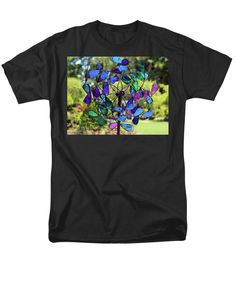 Spin T-Shirt featuring the photograph Garden Colored Fan by Cynthia Guinn
