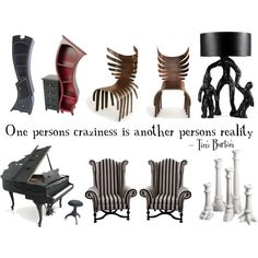 tim burton inspired furniture | ... those striped chairs and red bookcase! Tim Burton inspired home decor
