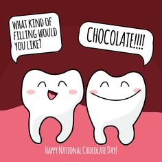 NATIONAL CHOCOLATE DAY is Oct. 28! Dark chocolate contains antioxidants good for teeth and oral health!